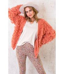 oversized knitted fringe vest dust