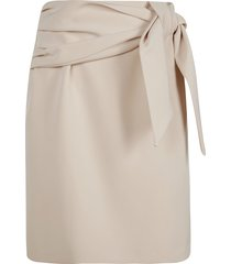 be blumarine rear zip classic skirt