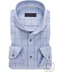 john miller modern fit overhemd blauw geruit