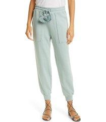 women's ulla johnson charley tie waist joggers, size x-large - blue