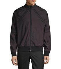 raglan-sleeve full-zip jacket
