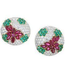summer berry ruby and diamond earrings