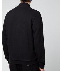 belstaff men's zip-through sweatshirt - black - xxl