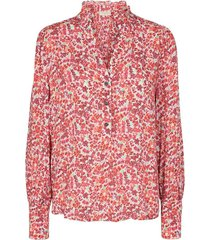 blouse bloemenprint rood