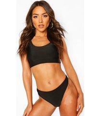 basic crop bikini, black