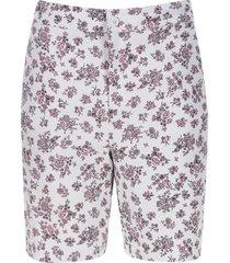bermuda mujer flores rosa color rosado, talla 10