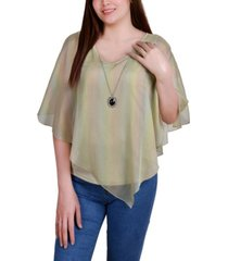 ny collection petite sheer poncho with matching tank
