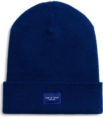 women's rag & bone addison merino wool beanie - blue