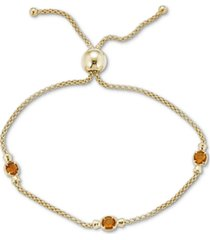 amethyst popcorn link bolo bracelet (5/8 ct. t.w.) in sterling silver or 14k gold over silver (also in blue topaz and citrine)