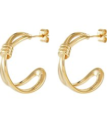 'reese' cinched knot cutout earrings