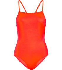 core convertable strap swimsuit badpak badkleding oranje french connection