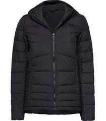 transition down hoodie w outerwear sport jackets zwart salomon