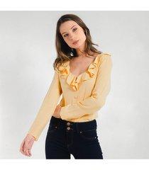 blusa para mujer en chalis amarillo