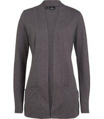 cardigan in maglina elasticizzata (grigio) - bpc bonprix collection