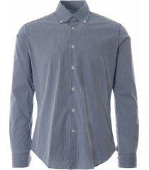 oxford check shirt - navy notadayt-nvy