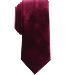alfani men's slim velvet tie, created for macy's