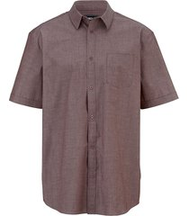 overhemd men plus fuchsia::wit