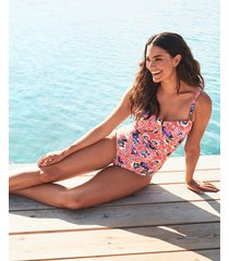 salma underwire bandeau tummy control one-piece swimsuit d-gg cup