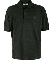 ami alexandre mattiussi embroidered logo polo shirt