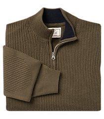 1905 collection wool blend quarter zip mock neck men's sweater clearance