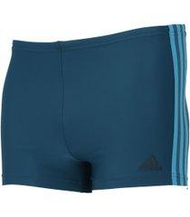 sunga boxer adidas fit 3 stripes swim - adulto - azul esc/azul cla