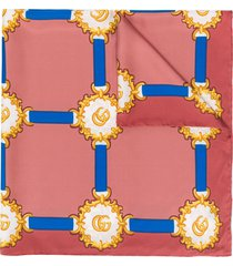 gucci printed neck scarf - pink