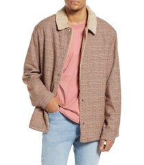 men's zanerobe faux shearling lined work jacket