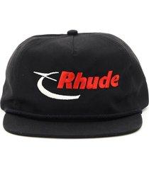rhude baseball cap logo embroidery