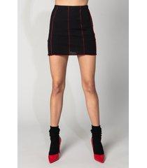 akira let's make it official contrast trim mini skirt