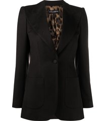 dolce & gabbana wide lapel blazer jacket - brown