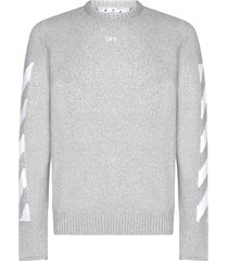 off-white arrows cotton-blend sweater