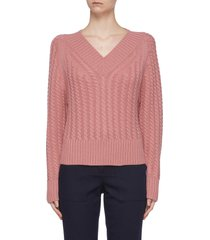 cable knit cashmere sweater