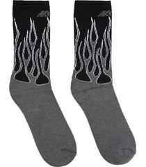 msgm intarsia cotton socks