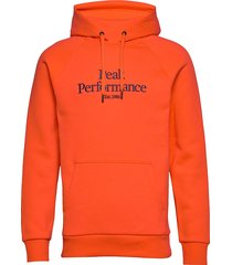 m orig h hoodie trui oranje peak performance