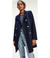 tommy hilfiger women's double-breasted military coat desert sky - 14