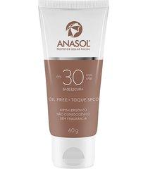 anasol protetor solar facial base escura fps 30 único