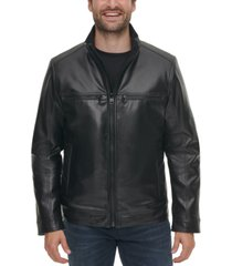 calvin klein men's faux leather jacket, created for macy's