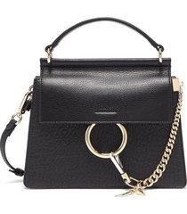 'faye' small leather shoulder bag