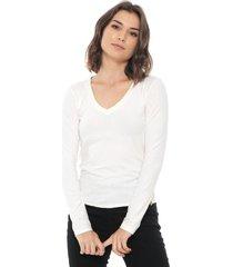 blusa lunender canelada off white - kanui