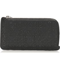 loewe anagram leather coin pouch black sz: