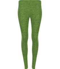 leggings deportivo unicolor jaspeado color verde, talla xxl