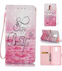lg stylo 3 case, lg stylo 3 plus case,xyx [3d painting - beautiful][wallet][card