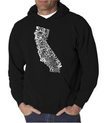la pop art men's word art hooded sweatshirt - california state