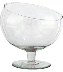 taça boca torta média, bomboniere de vidro 15x13cm - festas, hoteis, buffet