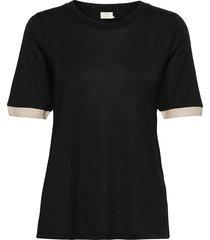 kaclara t-shirt t-shirts & tops short-sleeved svart kaffe