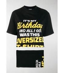 vetements convertible printed t-shirt