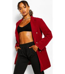 oversize double breasted blazer, berry