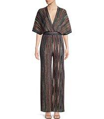 lurex kimono-sleeve jumpsuit