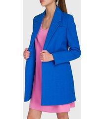 abrigo io azul - calce regular