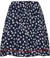 tjw printed lace trim skirt kort kjol blå tommy jeans